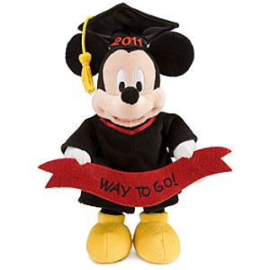 2011 Graduation Mickey Mouse Mini Bean Bag Plush