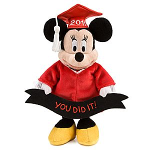 2011 Graduation Minnie Mouse Mini Bean Bag Plush