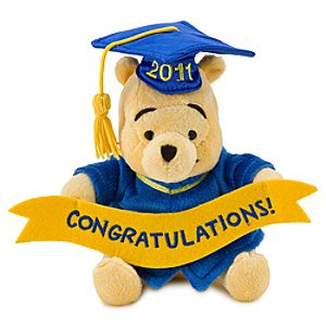 2011 Graduation Winnie the Pooh Mini Bean Bag Plush