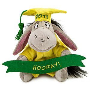 2011 Graduation Eeyore Mini Bean Bag Plush