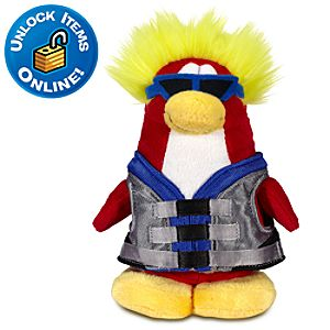 Club Penguin Water Sport Limited Edition Penguin Plush Toy -- 6 H