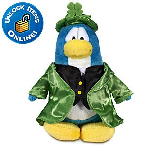 Club Penguin 6 Limited Edition Penguin Plush -- Leprechaun (Rare Chase)
