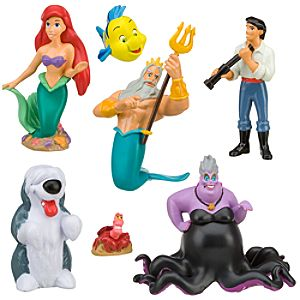 The Little Mermaid Figure Play Set -- 7-Pc.