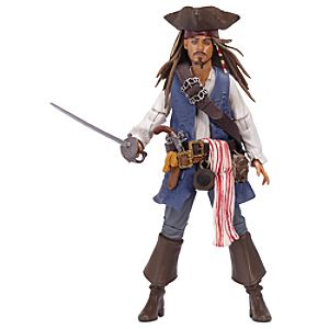 Pirates of the Caribbean Captain Jack Sparrow Action Figure -- 4'' H