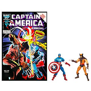 Marvel Universe Comic Pack: Wolverine and Captain America Figure Set