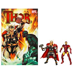 Marvel Universe Comic Pack: Thor and Iron Man Figure Set