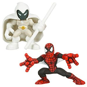 Marvel Super Hero Squad -- Spider-Man and Moon Knight Action Figures
