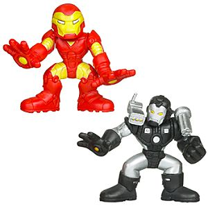 Marvel Super Hero Squad -- Iron Man and War Machine Action Figures
