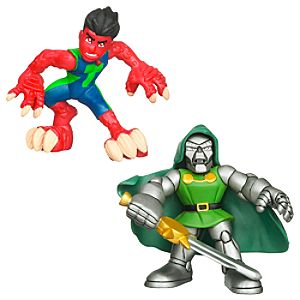 Marvel Super Hero Squad -- Reptil and Dr. Doom Action Figures