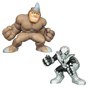 Marvel Super Hero Squad -- Rhino and Spider-Armor Spider-Man Action Figures
