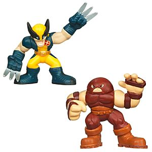 Marvel Super Hero Squad -- Wolverine and Juggernaut Action Figures