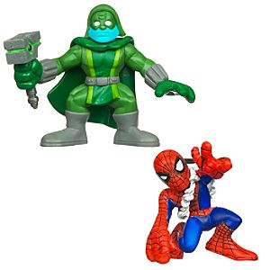 Marvel Super Hero Squad -- Spider-Man and Ronan Action Figures