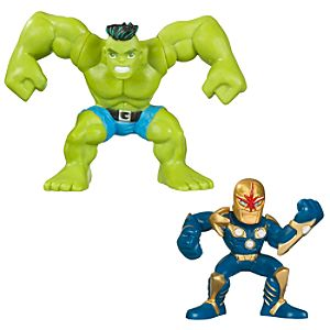 Marvel Super Hero Squad -- Hulk and Nova Action Figures