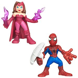 Marvel Super Hero Squad -- Scarlet Witch and Spider-Man Action Figures