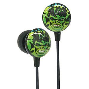 Earbud Style Marvel Comics Hulk Headphones