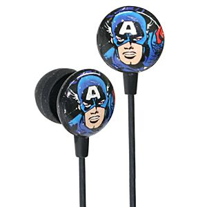Earbud Style Marvel Comics Captain America Headphones