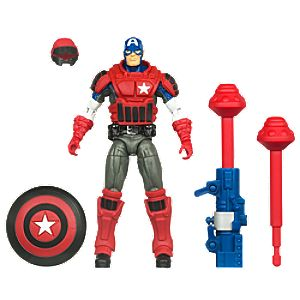 Deluxe Fortress Assault Mission Captain America Action Figure -- 3 3/4 H