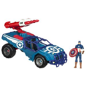 Off-Road Avenger Vehicle with Captain America Action Figure -- 3 3/4