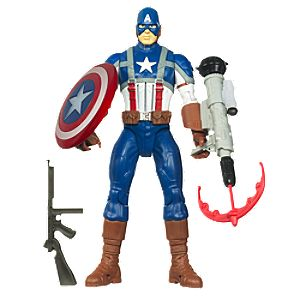 Hero Power Captain America Action Figure -- 10 H