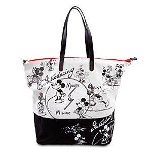 Mickey and Minnie Mouse 1928 Tote Bag