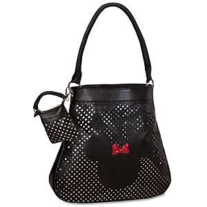 Disney Couture Minnie Mouse Hobo Bag with Detachable Mini-Purse