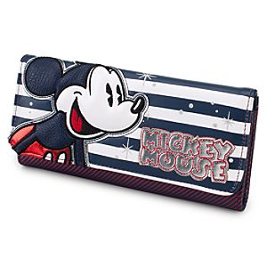 Stars and Stripes Trifold Mickey Mouse Wallet