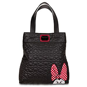 Faux Leather Minnie Mouse Tote by Loungefly