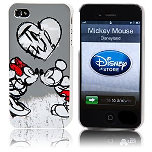 Hearts Minnie Mouse and Mickey Mouse iPhone 4 Case