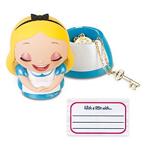 Kidada for Disney Store Wish-a-Little Alice in Wonderland Figure with Charm Necklace