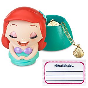 Kidada for Disney Store Wish-a-Little Ariel Figure with Charm Necklace