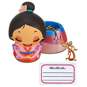 Kidada for Disney Store Wish-a-Little Mulan Figure with Charm Necklace