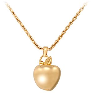 Disney Villains Gold Poisoned Apple Snow White Necklace by Disney Couture