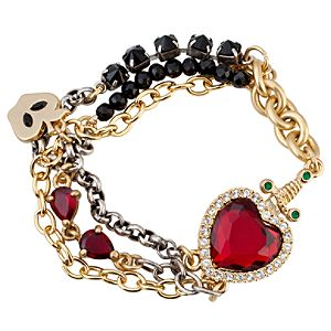 Disney Villains Crystal Evil Queen's Heart Box Snow White Bracelet by Disney Couture