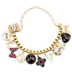 Love Charms Minnie Mouse Bracelet by Disney Couture