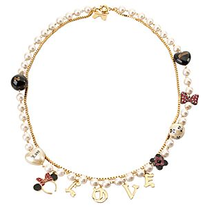 Love Charms Minnie Mouse Necklace by Disney Couture