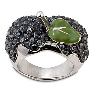 Disney Villains Black Crystal Poisoned Apple Snow White Ring by Disney Couture