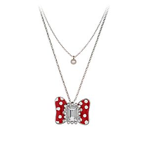 Minnie Mouse Bow Necklace for Women by Disney Couture