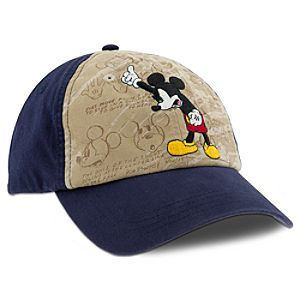 Sketch Mickey Mouse Baseball Cap for Adults