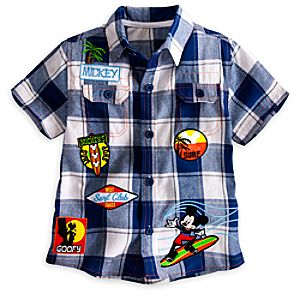 Mickey Mouse Woven Shirt for Boys