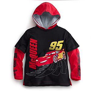 Double-Up Long Sleeve Lightning McQueen Hoodie for Boys