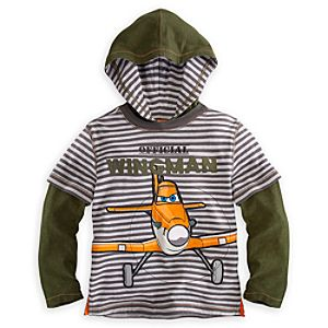 Dusty Hooded Tee for Boys - Planes