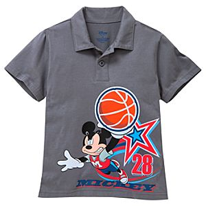 Basketball Mickey Mouse Polo for Boys