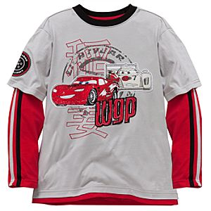 Double-Up Long Sleeve Cars 2 Tee for Boys