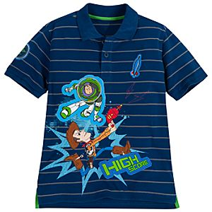 Pin Stripe Toy Story Polo for Boys