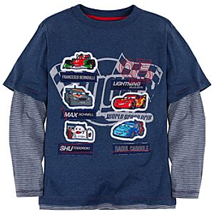 Double-Up Long Sleeve WGP Cars 2 Tee for Boys
