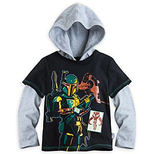 Boba Fett Long Sleeve Hooded Tee for Boys