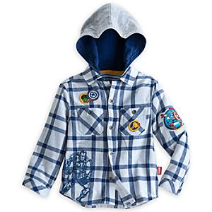 The Avengers Chambray Shirt with Hood for Boys