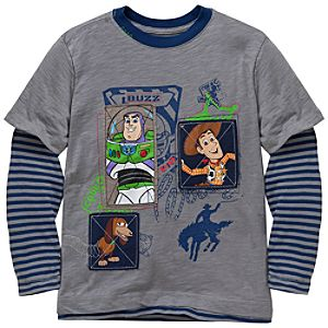 Double-Up Long Sleeve Toy Story Tee for Boys