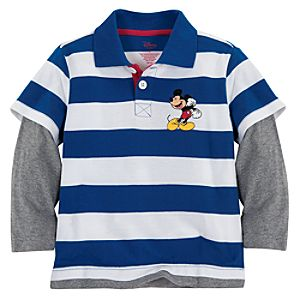 Double-Up Long Sleeve Mickey Mouse Polo for Boys