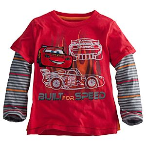 Double-Up Long Sleeve Lightning McQueen Tee for Boys